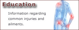 Education: Information regrding common injuries and ailments